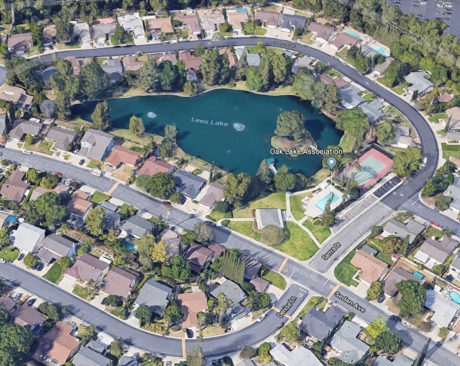 Hidden Lake in West Hills CA