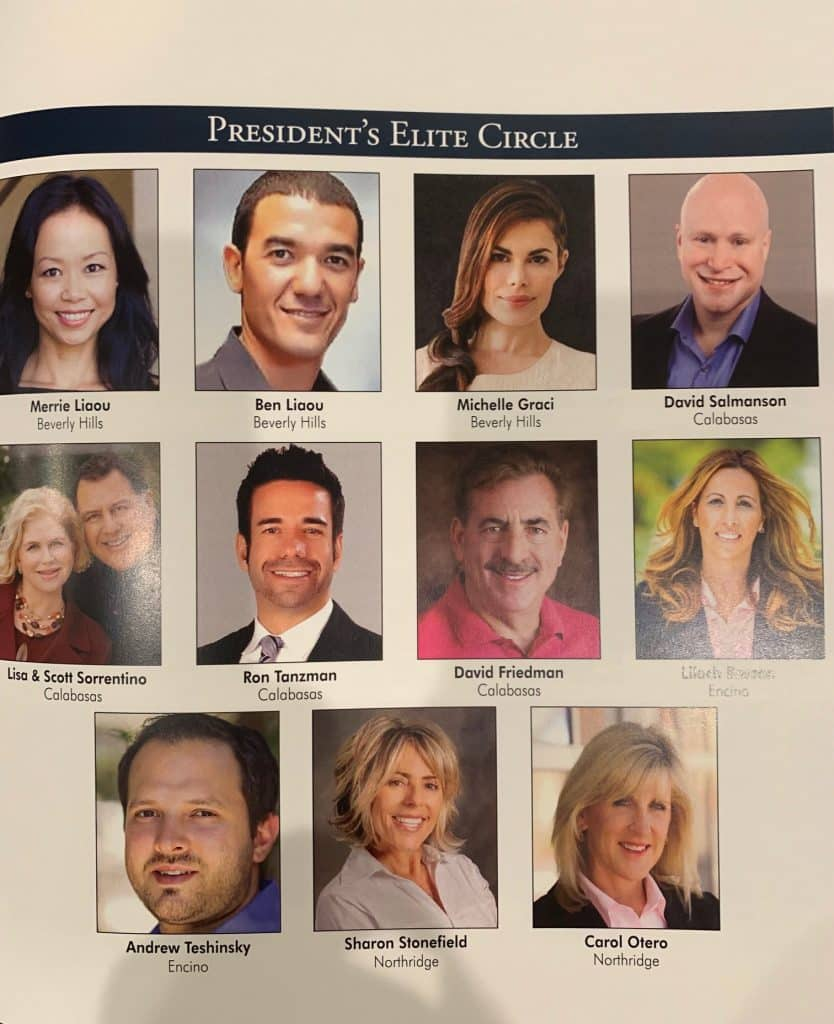 Calabasas Best Realtor - 2018 Awards Rodeo Presidents Circle