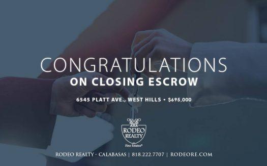 West Hills realtor closes escrow