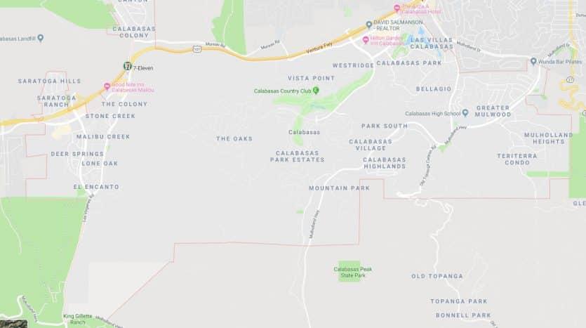 Calabasas map