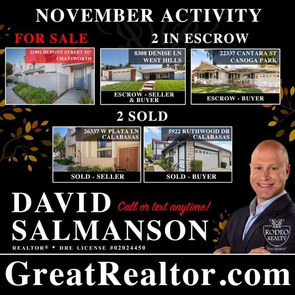 November Calabasas real estate updates