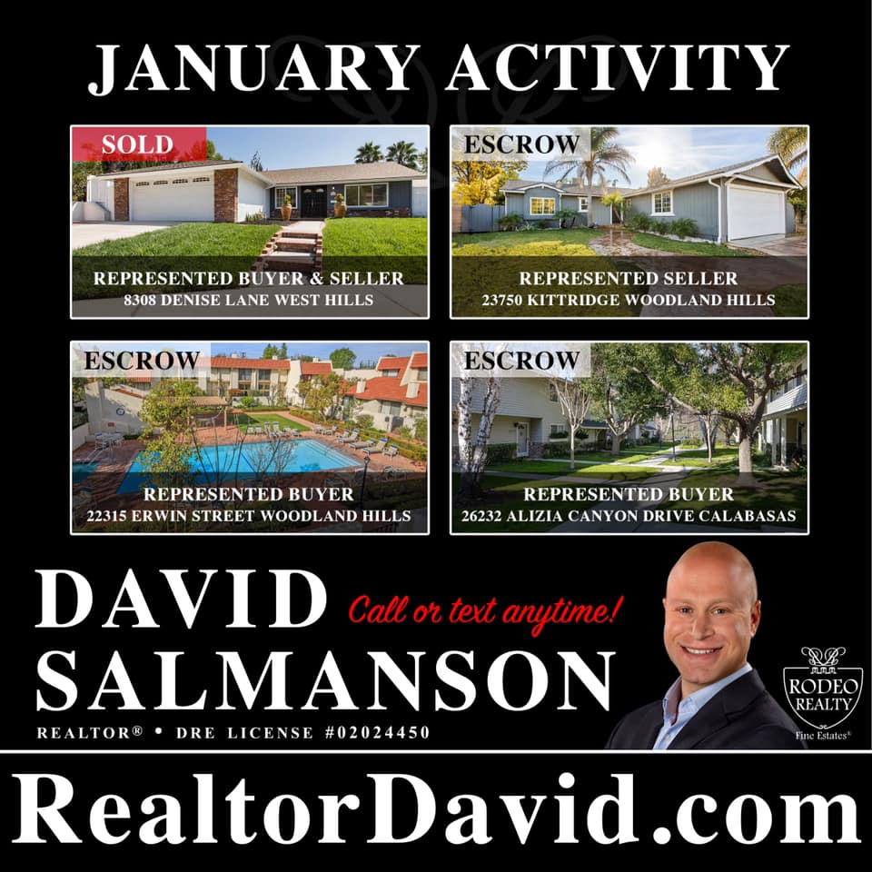 Calabasas home sales for January 2020