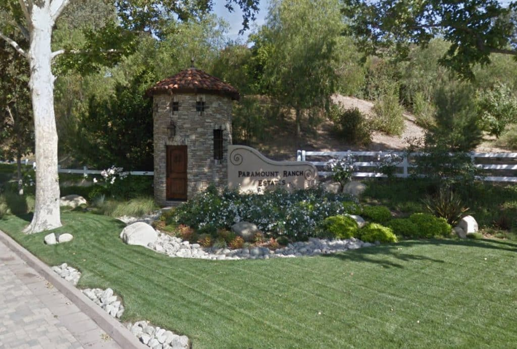 Paramount Ranch Estates in Agoura Hills gated community