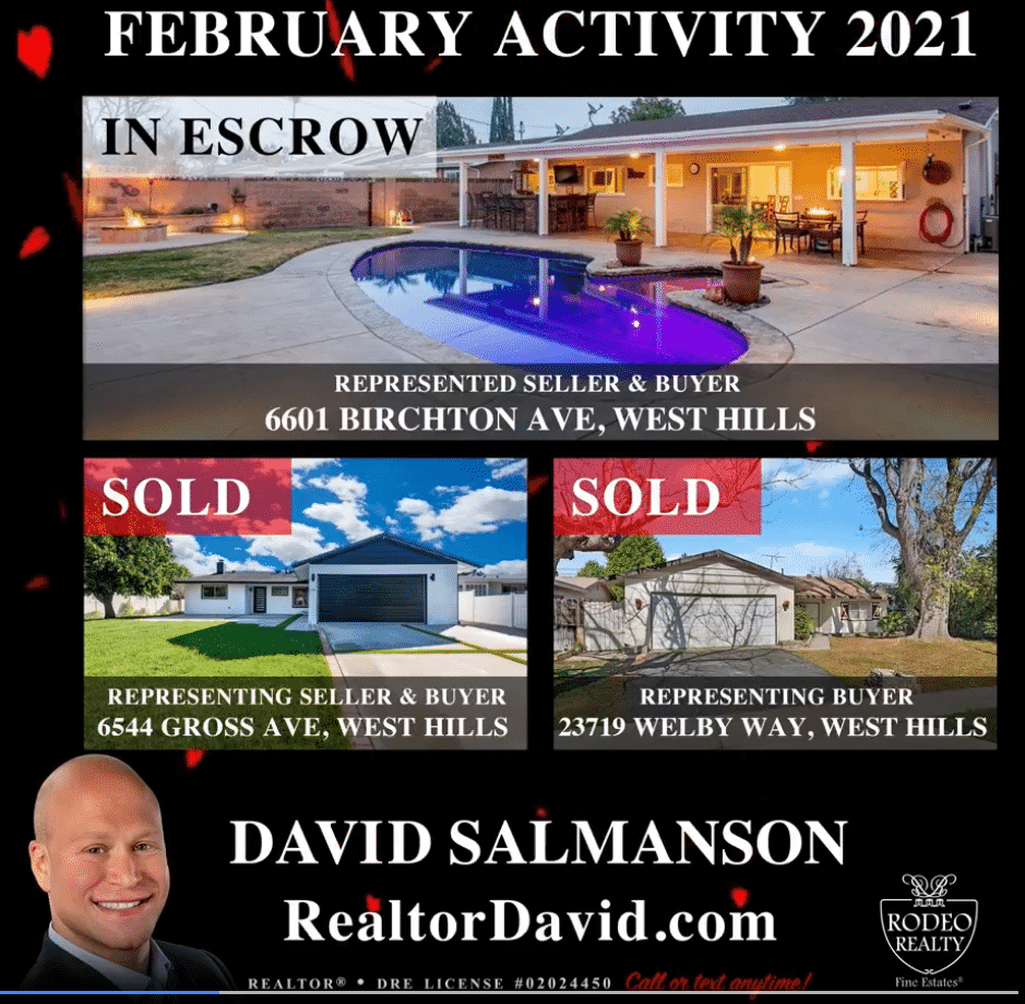 West Hills home sales for February 2021