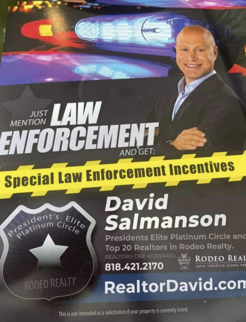 West Hills realtor supporting police